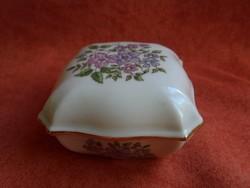 Zsolnay porcelán virágos bonbonier
