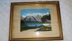 Tajkép , Festmény keretben