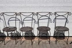 Kovácsoltvas szék garnitúra (4 darabos)
