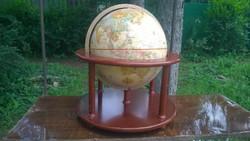 Nagyméretű állványos földgömb látványos jó db. m 45 cm