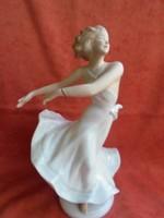 Wallendorfi porcelán balerina(sérült)