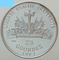 Ezüst 25 Gourdes Haiti ritka