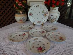 Antik Ifj Grünwald Mór Budapest porcelán ritka süteményes készlet
