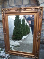 B19 130x90cm Antik Fa aranyozott tükör