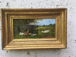 Kisméretű  kacsás festmény