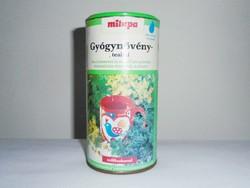 Retro Milupa Gyógynövény teaital teás doboz - 1990-es évek elejéről
