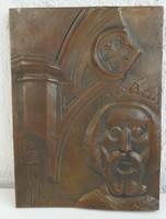 KŐ PÁL : GYŐR - bronz falikép - képcsarnokos