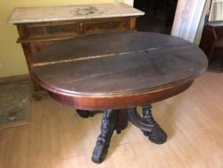 B15 Antik ebédlőasztal