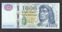 """1000 forint 2011. """"DA"""".  TÖKÉLETES UNC!"""