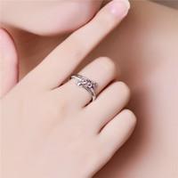 Rózsaszín köves gyűrű  7-es  ÚJ!
