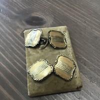 Antik aranyozott ezüst mandzsetta