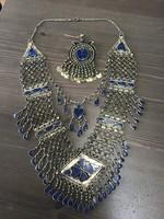 Különleges etnikumi afgán nyakék szett lápisz lazuli kövekkel