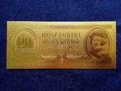 Gyönyörű arany színű plasztik dísz Húsz Forint/id 9710/