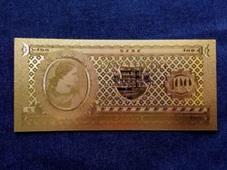 Gyönyörű arany színű plasztik dísz Száz Forint/id 9711/