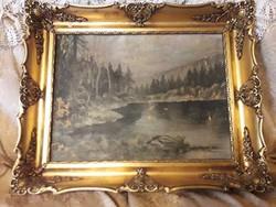 Antik gobleines keret ,festmény