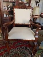 Antik karos szék, újra kárpitozva, íróasztal szék
