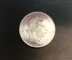 Ferenc József ezüst 1 Forint 1874 KB.