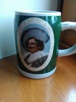 Régi német porcelán korsó