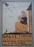Gallé Tibor első gyűjteményes kiállításának plakátja. 1925