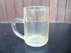 Régi feliratos üveg korsó