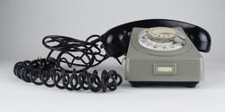 0X252 Retro szürke vezetékes telefonkészülék