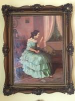 Barokk ruhás hölgy