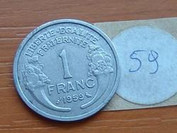 FRANCIA 1 FRANC FRANK 1959  ALU.  59.