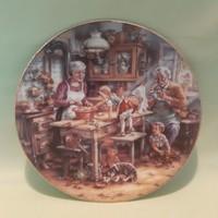 Bradex porcelán tányér, dísztányér