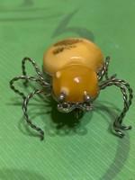 Borostyán pók bross eladó!Ara:18000.-