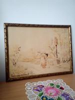 Némedy Csókos .I. akvarell festmény
