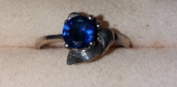 Gyönyörű Kék Köves Jelzett Ezüst Gyűrű