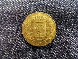Franciaország, XVIII. Lajos arany (.900) 20 Frank 1817/id 9745/