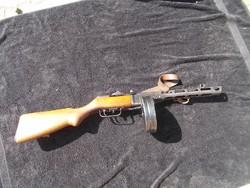 Rákosi pps-41 géppisztoly, puska hatástalanítva, szíjjal, igazolással