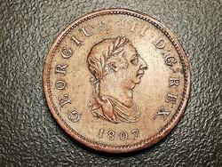 III.György.Nagy-Britannia 1/2 Penny 1807.