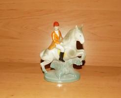 Régi Foreign német lovas zsoké porcelán figurás ibolya váza 11 cm (po-1)