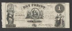 "1 forint 1852. ""C"".  RITKA!!  UNC!!"