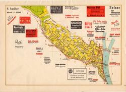 Budapest - II. kerület térkép 1948, hirdetés, reklám, 24 x 33 cm, főváros, Buda, Széll Kálmán tér