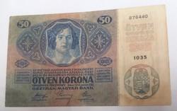 Szép 50 Korona 1914.