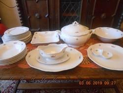 Zsolnay barokk, komplett étkészlet 6 személyes, hibátlan