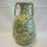 Jelzett retro iparművész kerámia váza 21 cm