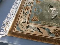 Kínai darumadaras, falikárpitnak használt gyapjú/selyem exclusive szőnyeg art deco interior-höz