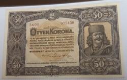 Gyűjteményes 50 Korona 1920 aunc.