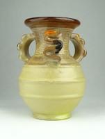 0U020 Jelzett art deco kerámia váza 16 cm