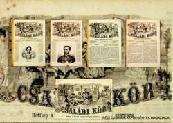 1863 február 22  /  Családi Kör   /  ANTIK, RÉGI EREDETI ÚJSÁG RITKASÁG! Szs.:  10469