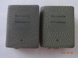 Boccaccio: Dekameron I-II. (válogatás) - minikönyv, miniatűr könyv, műbőr kötéses (1957)