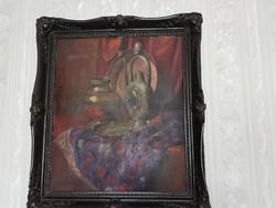 Gyönyörű nagyméretű antik olajfestmény 1930-ból