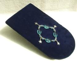 Bizsu ékszer Kék karkötő Tengeri csillag  fityegővel