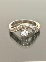 Pompás ezüst gyűrű