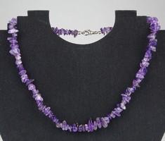 0X272 Fűzött ásvány féldrágakő női nyaklánc nyakék