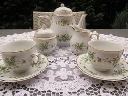 Erika mintás Hollóházi teás készlet